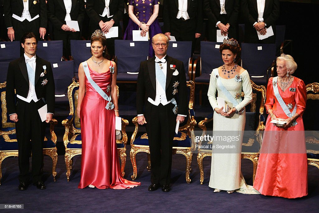 Nobel Prize Giving Ceremonies : News Photo