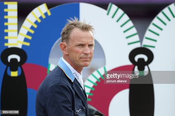 The Swedish show jumper Peder Fredricson can be seen before the single show jumping competition of the FEIEuropean Championships 2017 in Gothenburg,...