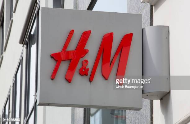 The Swedish textile trading company HM in trouble The picture shows the HM logo