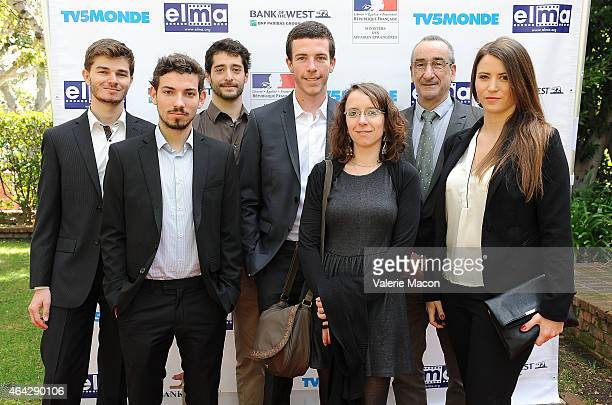 The Sweet Cocoon crew attends The Consul General Of France Mr Axel Cruau Honors The French Nominees For The 87th Annual Academy Awards at French...