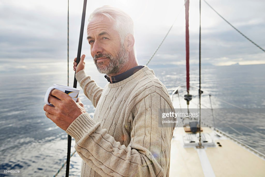 The sweet life on deck : Stock Photo