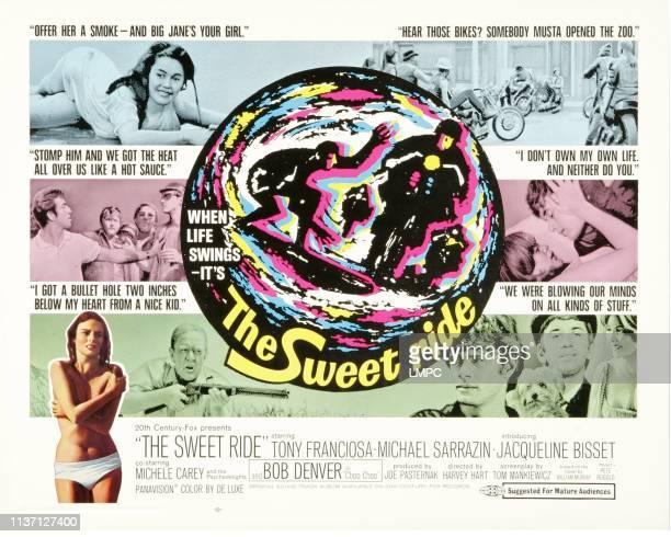 The Sweet Ride poster Jacqueline Bisset bottom right from left Michael Sarrazin Bob Denver Michele Carey 1968