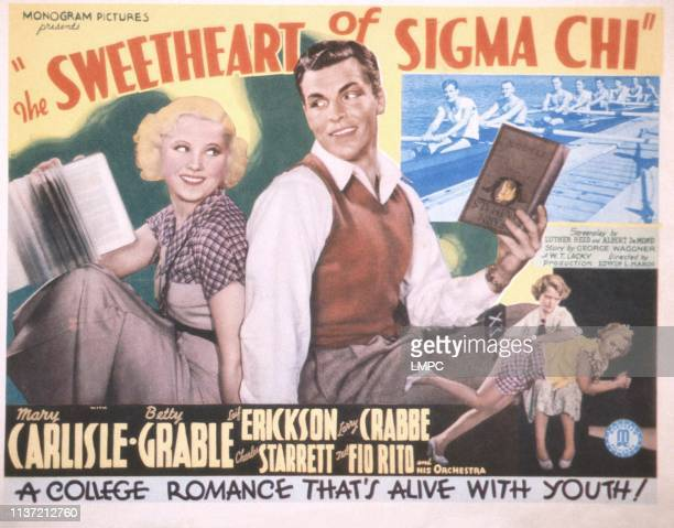 The Sweetheart Of Sigma Chi poster US poster back to back from left Mary Carlisle Buster Crabbe 1933