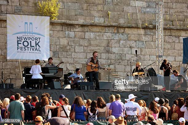 The Swell Season performs during day 3 of the Newport Folk Festival at Fort Adams State Park on August 12010 in Newport Rhode Island