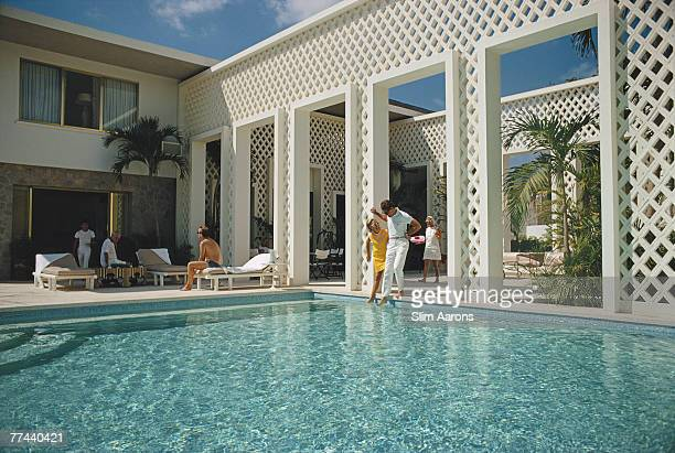 The swimming pool at Arturo Pani's villa Acapulco Mexico January 1968