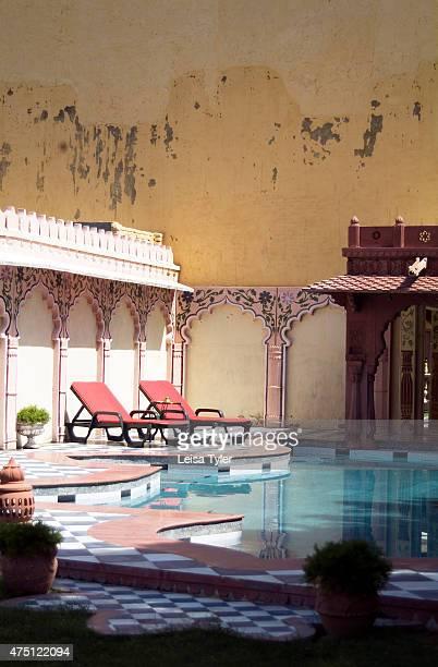 The swimming pool at Ravla Bhenswara the extensive home of Kunwar Shiv Pratap Singh the heir apparent of Bhenswara Struggling for years to keep up...