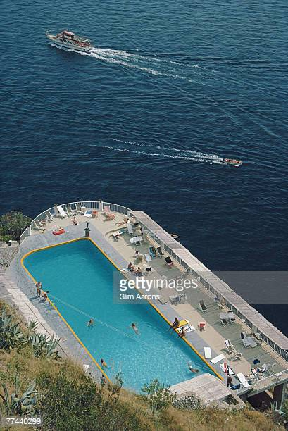 The swimming pool at the Hotel Belvedere Amalfi Italy August 1984