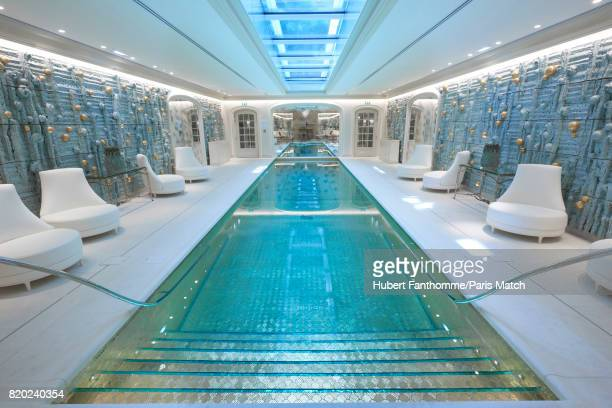 The swimming pool inside the Crillon Hotel photographed for Paris Match on June 22 2017 in Paris France