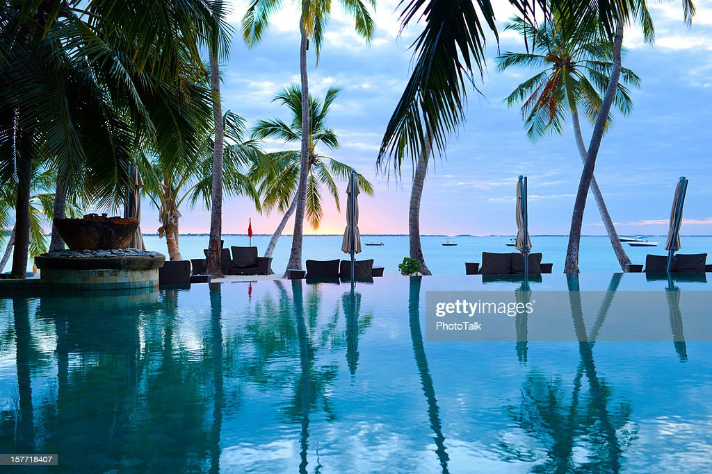 The Swimming Pool of Summer Resort : Stock Photo
