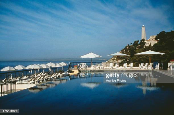 The swimming pool of the Grand Hotel du SaintJeanCapFerrat southeastern France circa 1960