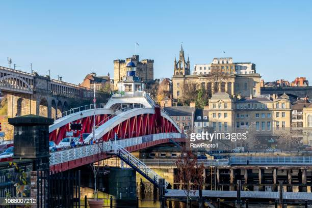 the swing bridge - newcastle/gateshead. - quayside stock photos and pictures