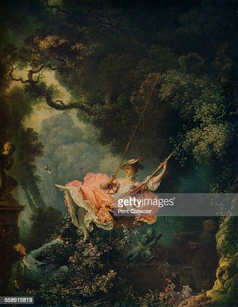 'The Swing' c1767 Painting housed in the Wallace Collection London From The World's Greatest Paintings edited by T Leman Hare [Odhams Press Ltd...
