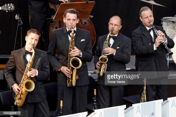 A general view of the 'Best Of Swing' Concert at the Thurn Taxis Castle Festival on July 17 2018 in Regensburg Germany