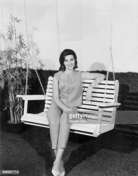 The swing shown here with actress Beverly Adams may be used in all sorts of placeshung out on a porch or patio roof or the carport or from a large...