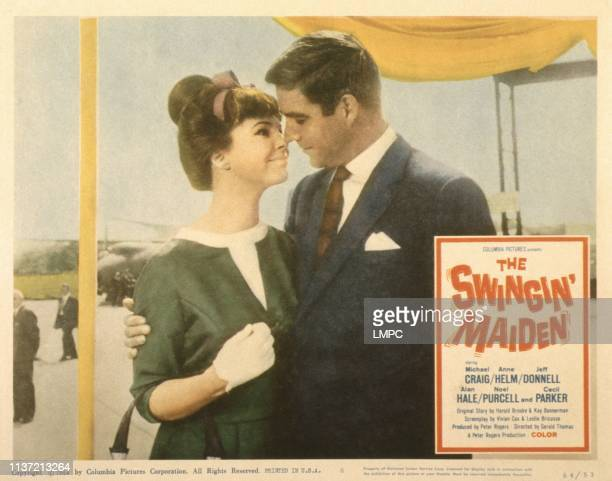 The Swingin' Maiden US lobbycard from left Anne Helm Michael Craig 1963