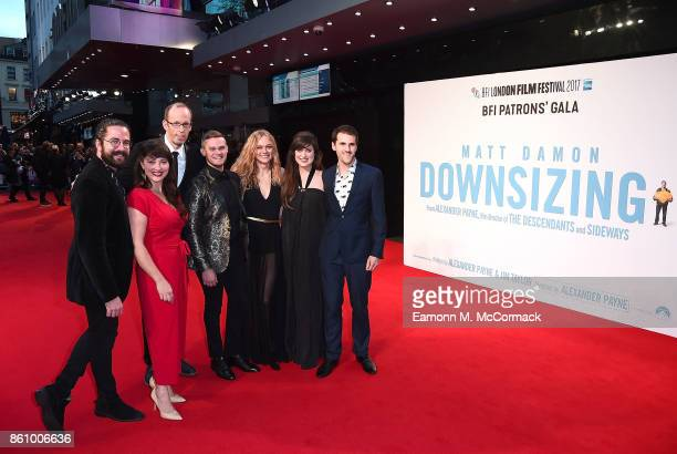 The Swingles attends the UK premiere of Downsizing the BFI Patron's Gala during the London Film Festival on October 13 2017 in London England