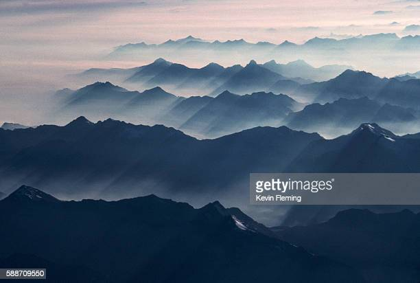 The Swiss Alps and Fog