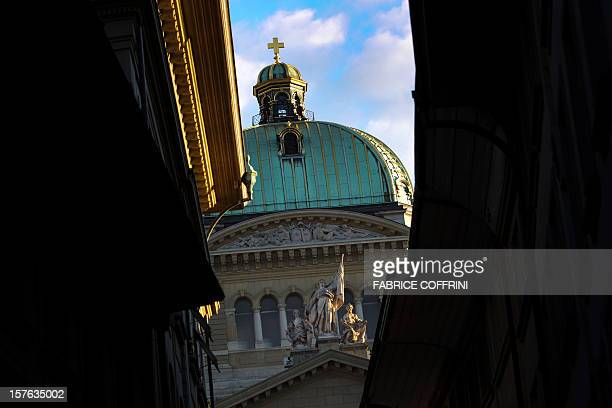 The Swiss House of Parliament of is seen on October 13 2011 in Bern As Switzerland goes to nation vide polls on October 23 2011 to elect a new...