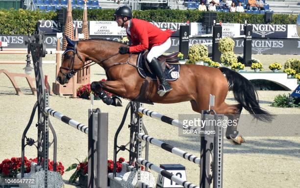 The Swiss rider from Bryan Balsiger during his participation in the Queen's Cup Segura Viudas during the CSIO Barcelona 2018 at the Real Club de Polo...