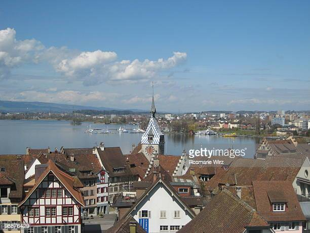 The Swiss town of  Zug on Lake Zug