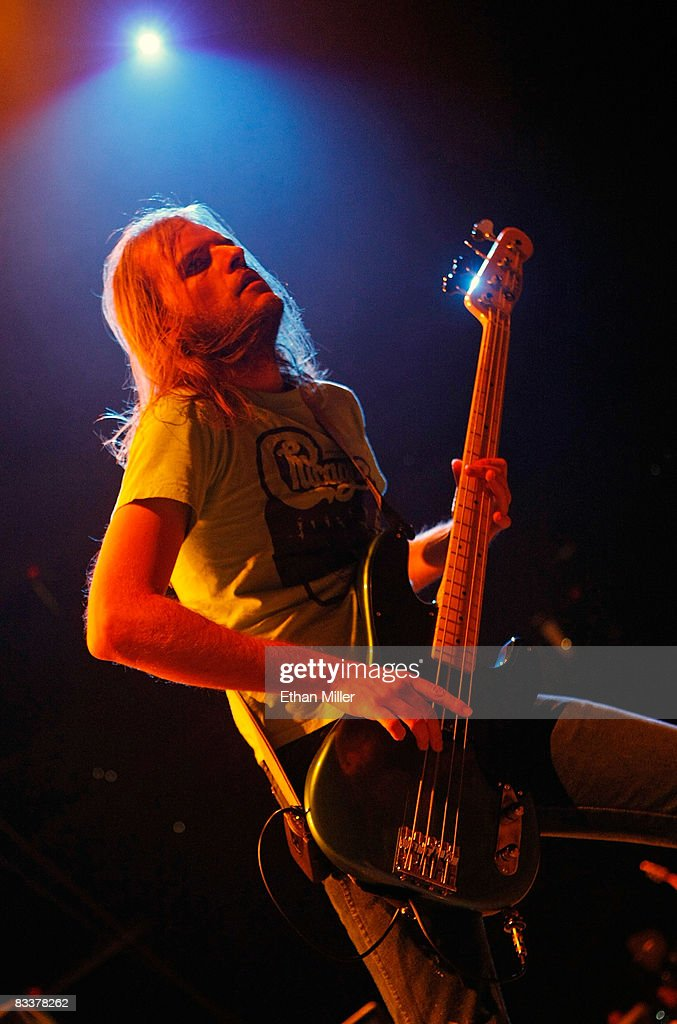 The Sword bassist Bryan Richie performs as the band opens