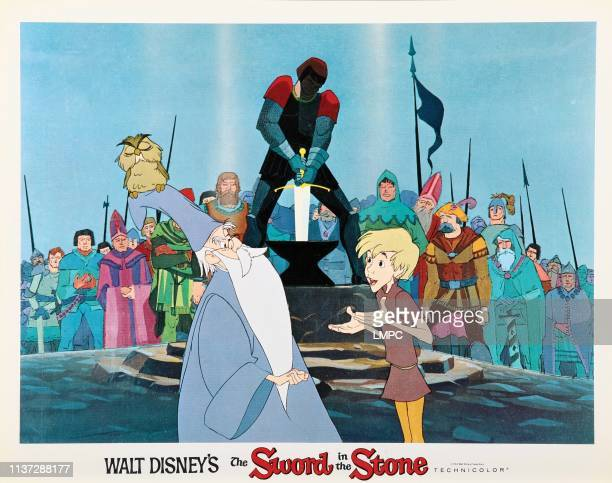 The Sword In The Stone poster from left Merlin Wart 1963