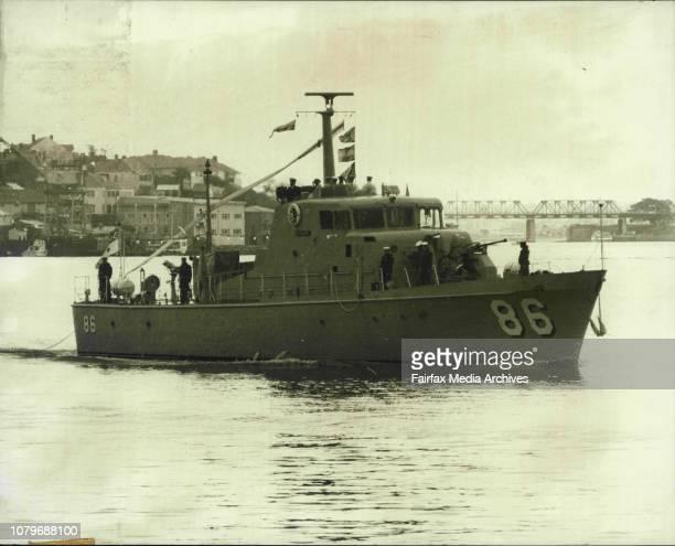 The Sydney based Royal Australian Naval Reserve bank.HMAS Archer arriving at HMAS Waterhen at Waverton.Patrol Boat, HMAS Aycher, sailed into Sydney...