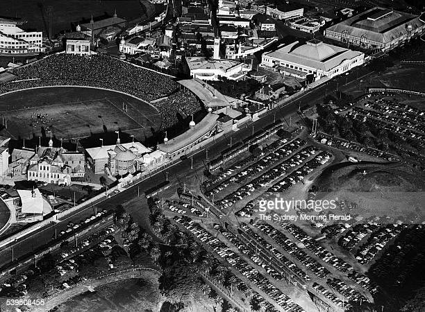 The Sydney Cricket Ground pictured from the air during a rugby union match between England and New South Wales on 3 May 1950 SMH NEWS Picture by STAFF