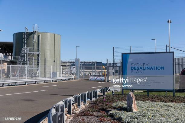 The Sydney Desalination Plant in Kurnell which was reactivated in January after dam levels dropped below 60% on May 30 2019 in Sydney Australia The...