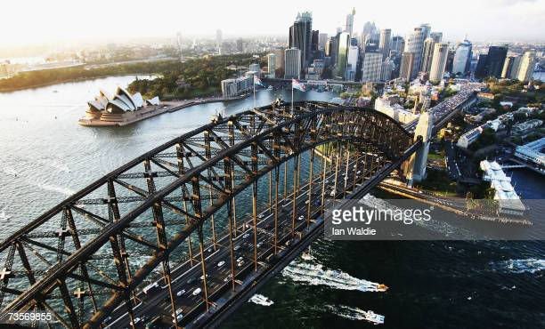 The Sydney Harbour Bridge is seen February 20, 2007 in Sydney, Australia. The weekend of March 16 and 17, 2007 marks the 75th anniversary of the...