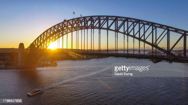 the sydney harbour bridge - david ewing stock pictures, royalty-free photos & images