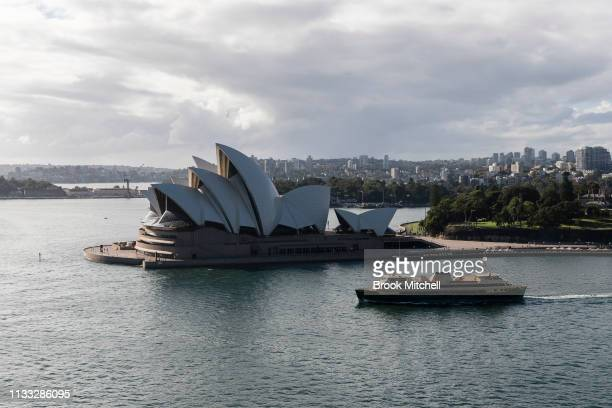 The Sydney Opera House and Harbour is viewed from the Harbour Bridge on March 03 2019 in Sydney Australia The Clean Up Sydney Harbour event was...