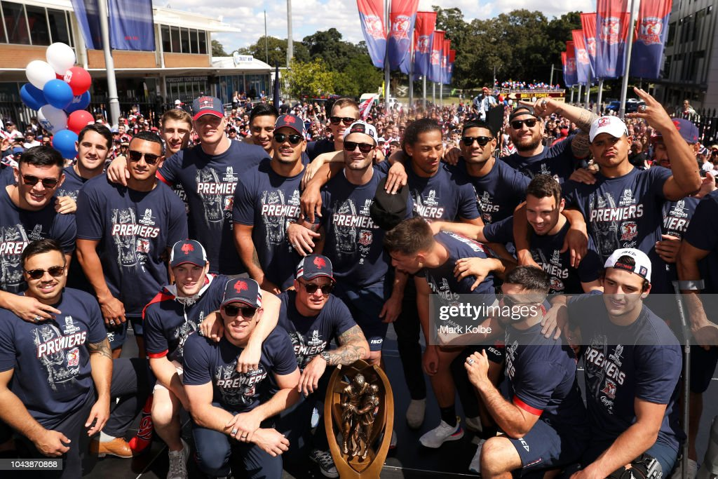 Sydney Roosters Celebrate Winning 2018 NRL Grand Final : News Photo