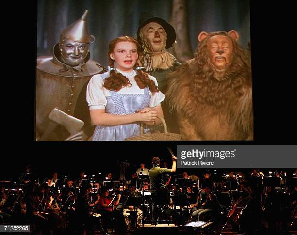 The Sydney Symphony Orchestra during a rehearsal of The Wizard of Oz in front of a big screen in the Concert Hall of the Sydney Opera House June 21...