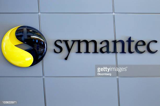 The Symantec Corp logo is displayed outside the company's headquarters in Mountain View California US on Tuesday Aug 24 2010 Intel Corp' $768 billion...