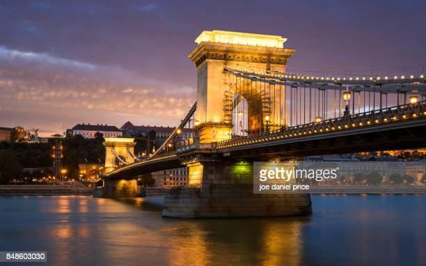 The Széchenyi Chain Bridge Budapest Hungary