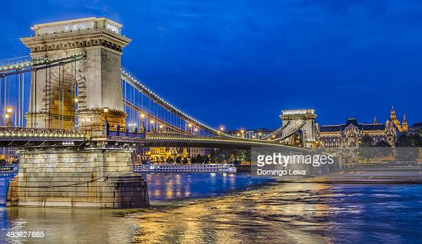 The Szechenyi Chain Bridge in Budapest,Hungary
