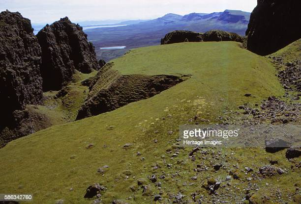 The Table, Quirang, Isle of Skye, Scotland, 20th century. Mass of basalt rocks on Quirang, a moving landslip on the eastern face of Meall na...