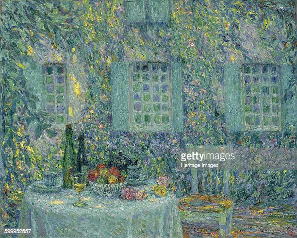 The Table The Sun on the Leaves Gerberoy 1917 Private Collection Artist Le Sidaner Henri