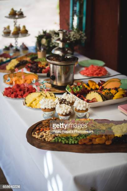 The table with sweets assortment