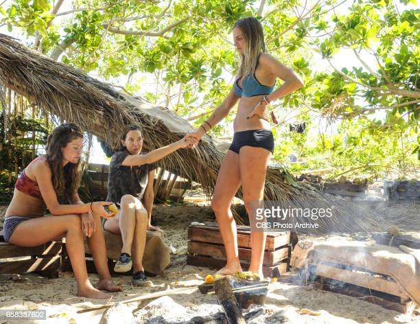 The Tables Have Turned Hali Ford Debbie Wanner and Sierra DawnThomas on the fourth episode of SURVIVOR Game Changers airing Wednesday March 22 on the...