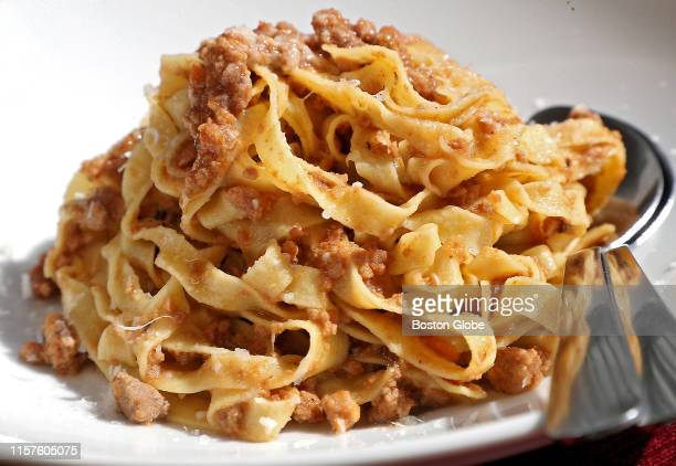 The tagliatelle Bolognese served at Fox the Knife in South Boston is pictured on July 19 2019