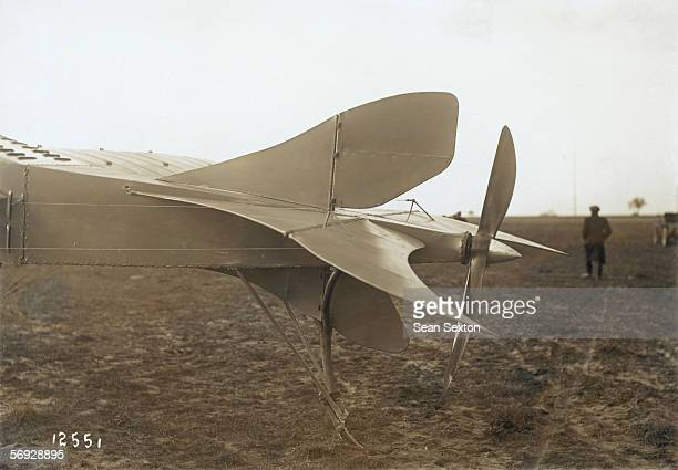 The tail section of a Borel Ruby tailpusher monoplane 11th March 1914