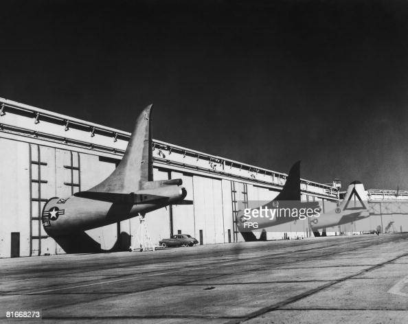 The Tail Sections Of American Convair B 36 Peacemaker