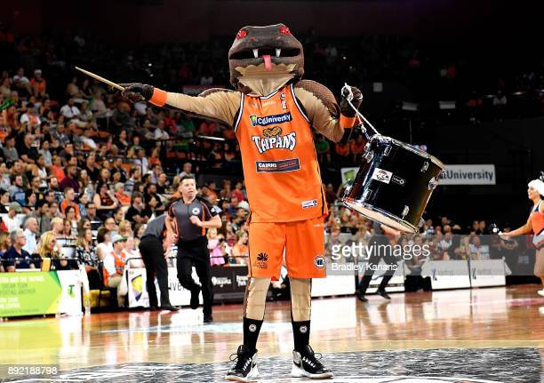 The Taipans mascot entertains the crowd during the round 10 NBL match between the Cairns Taipans and the Brisbane Bullets at Cairns Convention Centre...