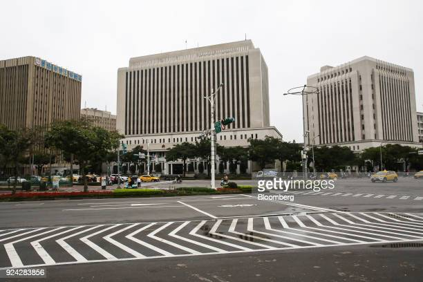 The Taiwan Central Bank headquarters building center and the National Treasury Administration building right stand in Taipei Taiwan on Monday Feb 26...