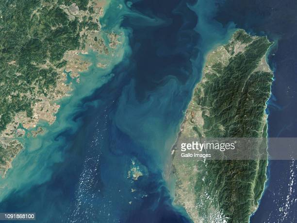 The Taiwan Strait is a strategic maritime shipping route located between the coast of southeast China and Taiwan