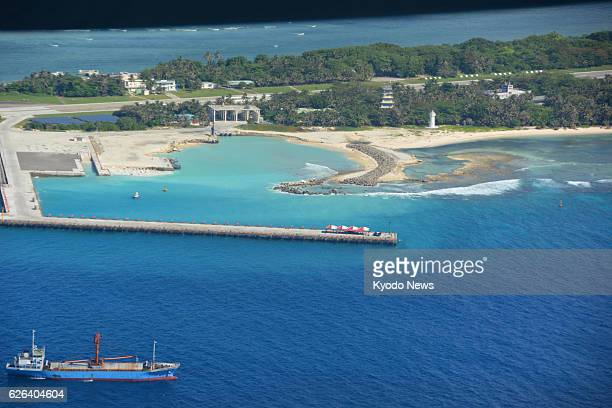 The Taiwancontrolled Taiping Island in the South China Sea is seen on Nov 29 2016