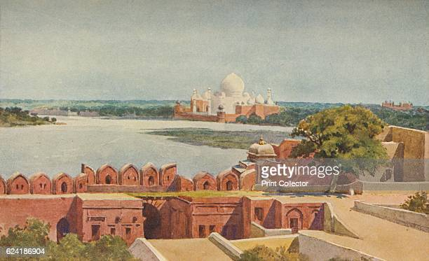The Taj from the Fort, Agra', c1880 . From The High-Road of Empire, by A. H. Hallam Murray. [John Murray, Ablemarle Street, London, 1905]. Artist...