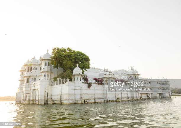 The Taj lake palace hotel on lake Pichola, Rajasthan, Udaipur, India on July 18, 2019 in Udaipur, India.